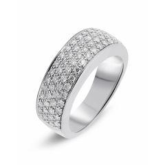 Bague pavage en Or Blanc 750 sertie de 72 diamants pour un poids total de 0,72 carats