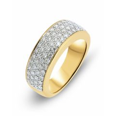 Bague Pavage Or Jaune 750  Diamant  0.72 carat