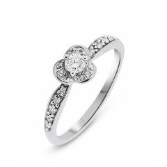Bague Pétales Or Blanc Diamant