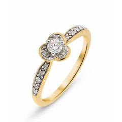 Bague Pétales Or Jaune  Diamant