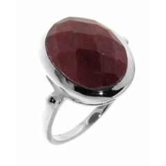 Bague Rhodonite Ovale taille Dome 14x12mm