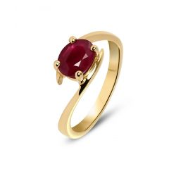 Bague Rubis Or Jaune 1.25 carat