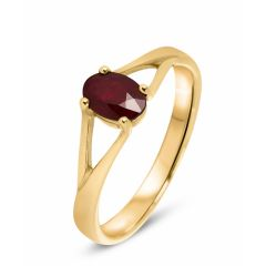 Bague Rubis Or Jaune