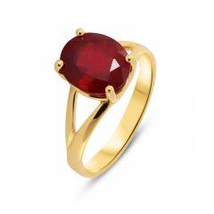 bague or femme avec pierre rouge