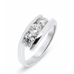 Bague Trilogie Diamant  Or Blanc (0.97ct)