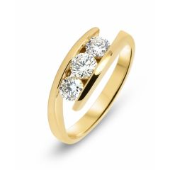Bague Trilogie Or Jaune 750 Diamant