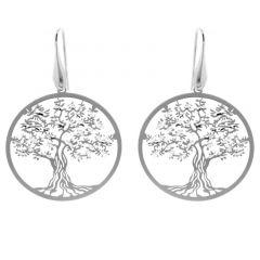 Boucles d'oreilles Arbre de Vie  pendantes en Argent 925