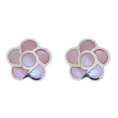 Boucles d'oreilles Argent et Nacre rose