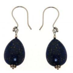 Boucles d'oreilles Argent Lapis Lazuli Poire 18x12mm