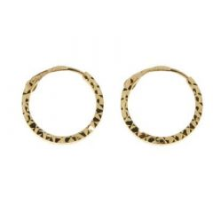 Boucles d oreilles créoles or Jaune 10mm f6c5c369c160