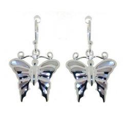 Boucles d'oreilles Papillions Argent  Nacre