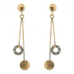 Boucles d'oreilles pendantes 2 Ors 750