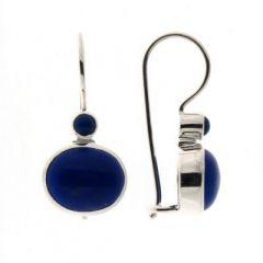 Boucles d'oreilles Pendantes Argent Lapis Lazuli