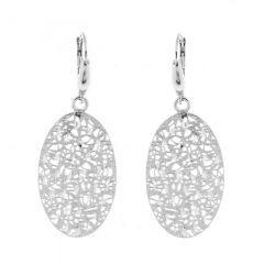 Boucles d'oreilles pendantes en argent 925 rhodié