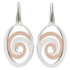 Boucles d'oreilles pendantes en Argent Rhodié et rosé