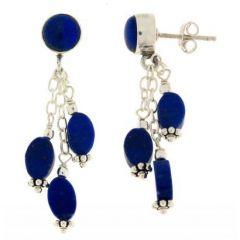 Boucles d'oreilles Pendantes Lapis Lazuli en Argent 925