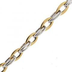 Bracelet 2 Ors 750 maille fantaisie 7.6mm x 19cm