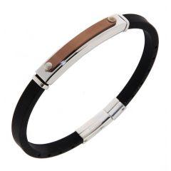 Bracelet Acier 6,8mm x 21cm
