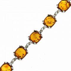 Bracelet Argent 925 et Ambre Coussin