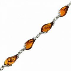 Bracelet Argent 925 et Ambre Poire