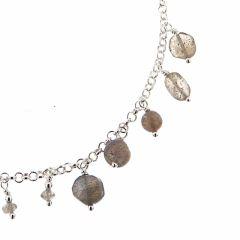 Bracelet Argent 925 et Breloques en Labradorite
