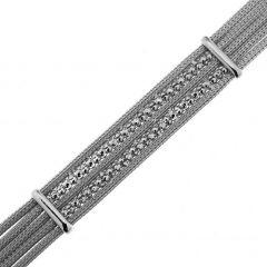 Bracelet Argent 925 Rhodié 5 rangs