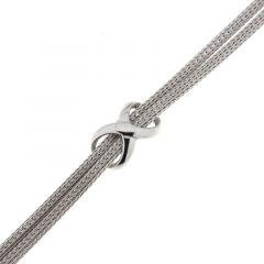 Bracelet Argent 925 Rhodié Maille Double et Signe Infini