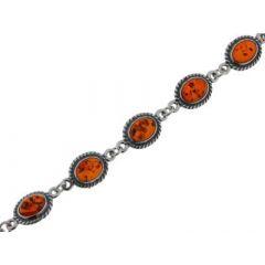 Bracelet Argent  Ambre Antique 9.2mm x 20cm