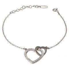 Bracelet Argent Coeurs Entrelacés