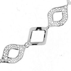 Bracelet Argent Losanges 14mm x 19cm