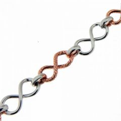 Bracelet Argent  Rhodié 2 tons Signe Infini