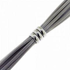 Bracelet Argent  Rhodié  9mm x 19cm