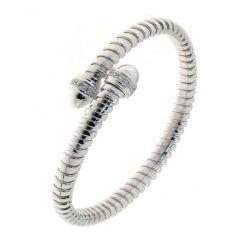 Bracelet Argent Rhodié avec Oxyde de zirconium