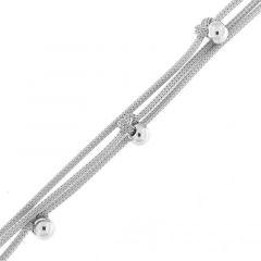 Bracelet Argent Rhodié Boules 5 mm
