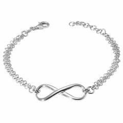 Bracelet Argent  Signe Infini Maille double