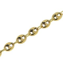 Bracelet Grains de cafés 6.2mm x 19cm Or Jaune 750
