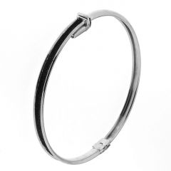 Bracelet Jonc Argent 925 Effet Glitter