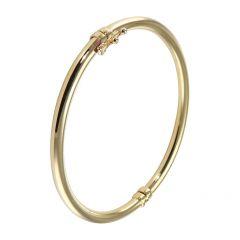 Bracelet Jonc Or Jaune  375 Fil Rond 3mm