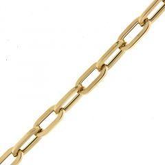 Bracelet maille ovale en Or Jaune 750 6mm x 20cm
