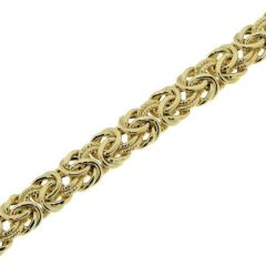 Bracelet Maille Royale 7mm x 19cm Or Jaune 750