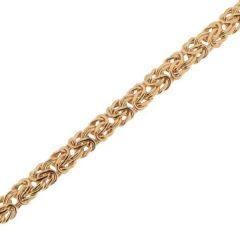 Bracelet maille Royale en Or Jaune 375 6mmx19cm