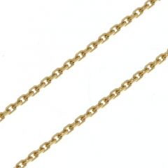 Chaine Or Jaune 375 maille forçat 1.6mm - 50cm