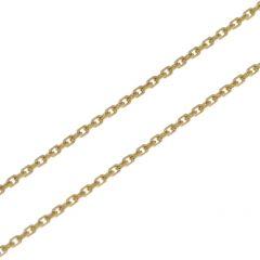 Chaine Or Jaune 375 maille forçat 1mm - 40cm