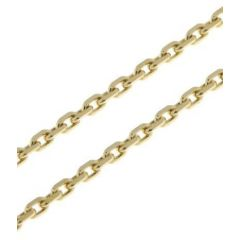 Chaine Or Jaune 375 maille forcat 2.4mm - 50cm