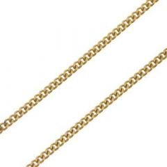 Chaine Or Jaune 375 maille gourmette 1.8mm - 50cm
