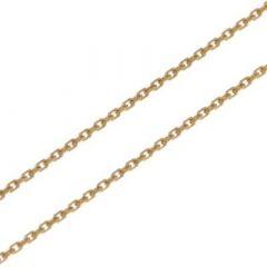Chaine Or Jaune 750 maille forçat 1.2mm - 42cm da84d607308e
