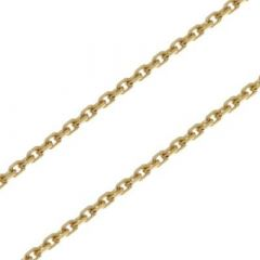 Chaine Or Jaune 750 maille forçat 1.6mm - 40cm