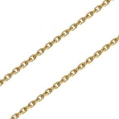 Chaine Or Jaune 750 maille forçat 1.6mm - 45cm