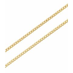 Chaine Or Jaune 750 maille gourmette 1.3mm - 45cm