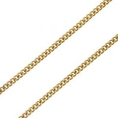 Chaine Or Jaune 750  maille gourmette 1.8mm - 50cm